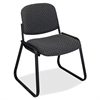 "Office Star V4420 Deluxe Sled Base Armless Chair - Onyx Seat - Black Frame - Sled Base - Onyx - 19"" Seat Width x 19.50"" Seat Depth - 23"" Width x 2.5"" Depth x 32.5"" Height"