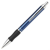 Pentel Client Retractable Ballpoint Pens - Medium Point Type - 1 mm Point Size - Refillable - Black - Blue Barrel - 1 Each