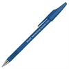 Better Grip Ballpoint Pens - Medium Point Type - 1 mm Point Size - Refillable - Blue - Blue Rubber, Rubber Barrel - 1 Dozen
