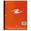 "Roaring Spring 1-Subject Tapebound Notebooks - 50 Sheets - Tape Bound - Ruled - 8 1/2"" x 10 1/2"" - Perforated, Repositionable - 1Each"