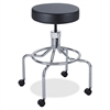 "Safco High Base Screw Lift Lab Stool - 250 lb Load Capacity - 25"" x 25"" x 33"" - Black"