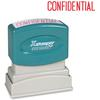 "Xstamper CONFIDENTIAL Title Stamp - Message Stamp - ""CONFIDENTIAL"" - 0.50"" Impression Width x 1.63"" Impression Length - 100000 Impression(s) - Red - Recycled - 1 Each"
