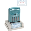 "Xstamper Pre-Inked FAXED VersaDater Stamp - Message/Date Stamp - ""FAXED"" - 1.31"" Impression Width x 2.12"" Impression Length - Blue, Red - Recycled - 1 Each"