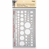 "Chartpak Circles & Identification Template - Circle, Square, Hexagon, Rectangle, Diamond, Directional Arrow - 5.9"" x 10"" - Gray"