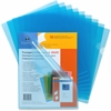 "Sparco Transparent File Holder - Letter - 8 1/2"" x 11"" Sheet Size - 20 Sheet Capacity - Blue - 10 / Pack"