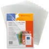 "Sparco Transparent File Holder - Letter - 8 1/2"" x 11"" Sheet Size - 20 Sheet Capacity - Clear - 10 / Pack"