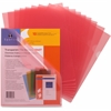 """Sparco Transparent File Holder - Letter - 8 1/2"""" x 11"""" Sheet Size - 20 Sheet Capacity - Red - 10 / Pack"""