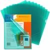 "Sparco Transparent File Holder - Letter - 11"" x 8 1/2"" Sheet Size - 20 Sheet Capacity - Polypropylene - Green - 10 / Pack"