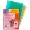 "Sparco Transparent File Holder - Letter - 11"" x 8 1/2"" Sheet Size - 20 Sheet Capacity - Polypropylene - Assorted - 5 / Pack"