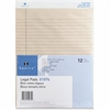 "Sparco Ivory Ruled Legal Pad - 50 Sheets - Printed - Glue - 16 lb Basis Weight - 8.50"" x 11.75"" - Ivory Paper"
