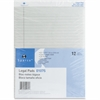 """Sparco Gray Legal Ruled Pad - 50 Sheets - Printed - Glue - 16 lb Basis Weight - 8.50"""" x 11.75"""" - Gray Paper"""