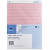 "Sparco Pink Legal Ruled Pad - 50 Sheets - Printed - Glue - 16 lb Basis Weight - 8.50"" x 11.75"" - Rose Paper"