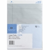 """Sparco Colored Pad - 50 Sheets - Printed - Glue - 16 lb Basis Weight - 8.50"""" x 11.75"""" - Blue Paper"""