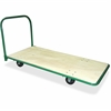 "Sparco Heavy-Duty Platform Truck - Tubular Handle - 1400 lb Capacity - Steel - 30"" Width x 60"" Depth x 32"" Height - Green"