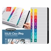 "Wilson Jones® MultiDex® Pro Dividers, 10-Tab Set, Multicolor Tabs - 10 x Divider(s) - 10 Printed Tab(s) - Digit - 1-10 - 10 Tab(s)/Set - Letter - 8.50"" Width x 11"" Length - White Paper Divider"