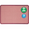 "Quartet® Contour® Fabric Bulletin Board - 36"" Height x 48"" Width - Mauve Fabric Surface - Burgundy Frame - 1 / Each"