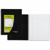 "Mead Cambridge Limited Business Notebook - 96 Sheets - Printed - Double Wire Spiral - 20 lb Basis Weight - Letter 8.50"" x 11"" - White Paper - Black Cover - Linen Cover - 1Each"