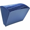 "Wilson Jones® ColorLife® Insertable 20-Tab Expanding File without Flap - Letter - 8 1/2"" x 11"" Sheet Size - 17"" Expansion - Paper - Dark Blue - Recycled - 1 Each"