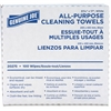 "Genuine Joe All-Purpose Cleaning Towel - 16.50"" x 9.50"" - White - Soft, Reusable, Absorbent, Non-abrasive - 100 Sheets Per Box - 100 / Box"