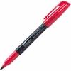Integra Fine Point Permanent Marker - Fine Point Type - Point Point Style - Red - 1 Dozen