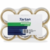 """3M Tartan General Purpose Packing Tape - 2"""" Width x 55 yd Length - 3"""" Core - Rubber Resin Backing - Long Lasting, Strong - 6 / Pack - Clear"""