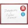"Quartet® Premium DuraMax® Porcelain Magnetic Whiteboard - 72"" (6 ft) Width x 48"" (4 ft) Height - White Porcelain Surface - Mahogany Frame - Horizontal/Vertical - 1 / Each"