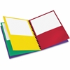 "Oxford Pocket Folder - Letter - 8 1/2"" x 11"" Sheet Size - 200 Sheet Capacity - 8 Pocket(s) - Fiber - Red, Green, Yellow, Purple - 1 / Each"