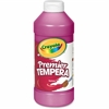 Crayola 16 oz. Premier Tempera Paint - 16 fl oz - 1 Each - Magenta