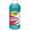 Crayola 16 oz. Premier Tempera Paint - 16 fl oz - 1 Each - Turquoise