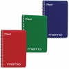 "Mead Open Side Memo Notebook - 40 Sheets - Wire Bound 4"" x 6"" - Assorted Paper - Tan Cover - Board Cover - 1 / Each"