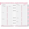 "Day-Timer Breast Cancer Awareness Personal Planner Refill - Weekly - 1 Year - January 2017 till December 2017 - 8:00 AM to 5:00 PM - 1 Week Double Page Layout - 3.75"" x 6.75"" - White - Tabbed, Page Fi"