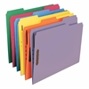 "Smead Colored Fastener Folders with Reinforced Tabs - Letter - 8 1/2"" x 11"" Sheet Size - 3/4"" Expansion - 2 Fastener(s) - 2"" Fastener Capacity - 1/3 Tab Cut - Assorted Position Tab Location - 11 pt. F"