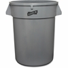 Genuine Joe Heavy-duty Trash Container - 32 gal Capacity - Plastic - Gray
