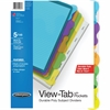 Wilson Jones® View-Tab® Transparent Dividers - 5 Tab(s) - 5 Tab(s)/Set - Transparent Polypropylene Divider - Multicolor Polypropylene, Transparent Tab(s) - 5 / Set