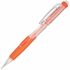 Pentel Twist-Erase Click Mechanical Pencil - #2, HB Lead Degree (Hardness) - 0.9 mm Lead Diameter - Refillable - Orange, Transparent Barrel - 1 Each