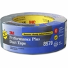 "3M Performance Plus Duct Tape - 2"" Width x 75 ft Length - 3"" Core - Polyethylene, Rubber - Polyethylene Coated Cloth Backing - Residue-free - 1 / Pack - Slate Blue"
