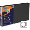 "Stride QuickFit Round Ring Presentation Binder - 1"" Binder Capacity - Legal - 8 1/2"" x 14"" Sheet Size - Round Ring Fastener - 2 Internal Pocket(s) - Black - Recycled - 1 Each"