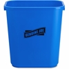 "Genuine Joe Recycle Wastebasket - 7.13 gal Capacity - Rectangular - 15"" Height x 14.5"" Width x 10.5"" Depth - Blue, White"