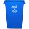 "Genuine Joe Recycling Container - 23 gal Capacity - Rectangular - 30"" Height x 22.5"" Width x 11"" Depth - Blue, White"