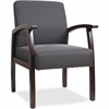 "Lorell Deluxe Guest Chair - Espresso Frame - Charcoal - 24"" Width x 25"" Depth x 35.5"" Height"