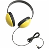 Califone Listening First Stereo Headphones - Stereo - Yellow - Mini-phone - Wired - 25 Ohm - Over-the-head - Binaural - Ear-cup - 5.50 ft Cable