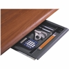 "Iceberg Aspira Series Desk Utility Drawer - 14"" Width x 14.5"" Depth x 1.5"" Height - Steel, Polyethylene - Charcoal"