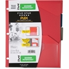 "Five Star Flex Divider NotePocket - 11.5"" Height x 9.8"" Width x 0.1"" Depth - 9.75"" x 11.50"" Sheet - Ring Binder - Rectangular - Assorted - 3 / Pack"