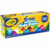 Crayola 10 ct. Washable Kids' Classic Paint - 2 fl oz - 10 / Pack - Blue, White, Violet, Brown, Green, Turquoise, Red, Yellow, Orange, Magenta