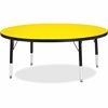 "Berries Toddler Height Color Top Round Table - Round Top - Four Leg Base - 4 Legs - 1.13"" Table Top Thickness x 48"" Table Top Diameter - 15"" Height - Assembly Required - Powder Coated"