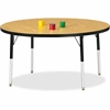 "Berries Adult Height Color Top Round Table - Round Top - Four Leg Base - 4 Legs - 1.13"" Table Top Thickness x 48"" Table Top Diameter - 31"" Height - Assembly Required - Powder Coated"