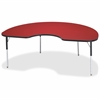 "Berries Adult Berries Color Top Kidney Table - Kidney-shaped Top - Four Leg Base - 4 Legs - 72"" Table Top Length x 48"" Table Top Width x 1.13"" Table Top Thickness - 31"" Height - Assembly Required - Po"