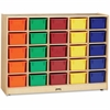 "Jonti-Craft 25 Cubbie-Tray with Colored Bins - 35.5"" Height x 48"" Width x 15"" Depth - Baltic - Acrylic, Rubber - 1Each"