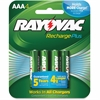 Rayovac PL724-4 Rechargeable AAA Battery - 800 mAh - AAA - Nickel Metal Hydride (NiMH) - 1.2 V DC - 4 / Pack