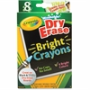 Crayola Dry Erase Crayon - Bright Assorted - 8 / Box
